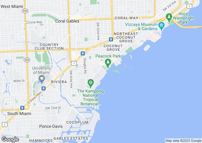 Map for Florida, Miami-Dade County, Miami