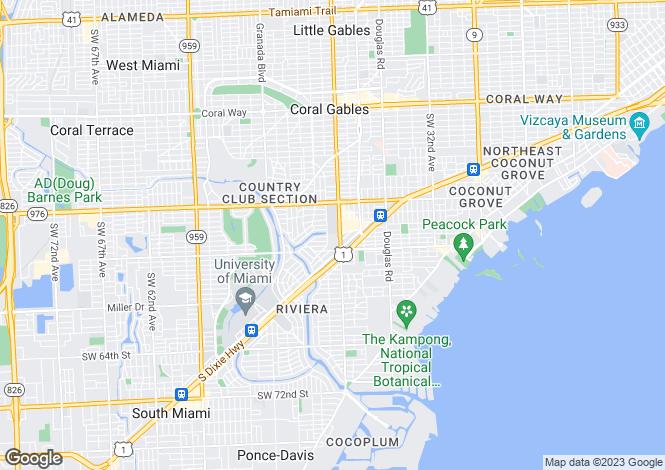 Map for USA - Florida, Miami-Dade County, Coral Gables