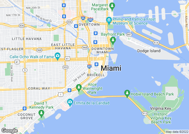 Map for Brickell