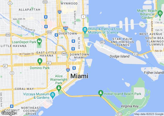 Map for Miami, Florida, United States