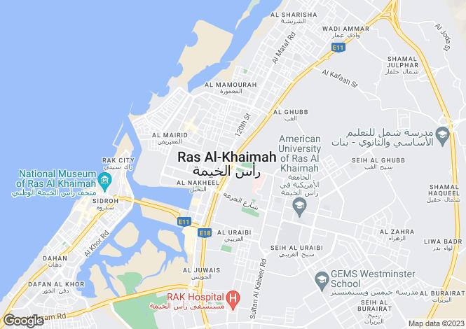 Map for Ras Al Khaimah, Ras Al Khaimah