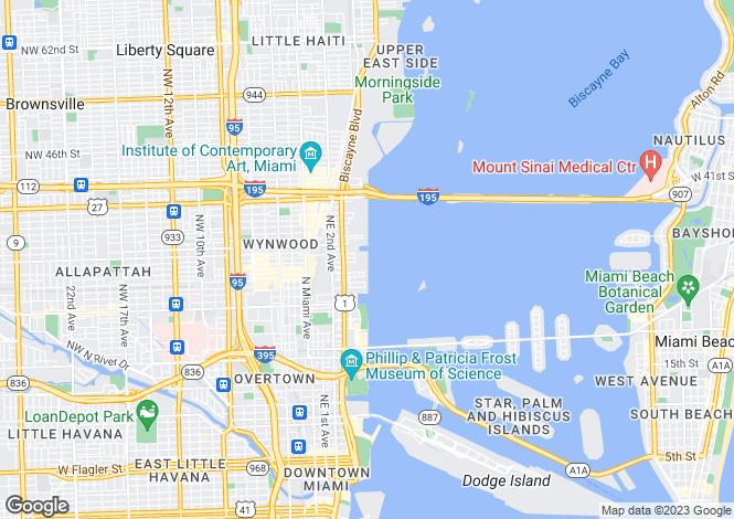 Map for Missoni Baia, 777 N.E. 26th Terrace, Miami, Florida