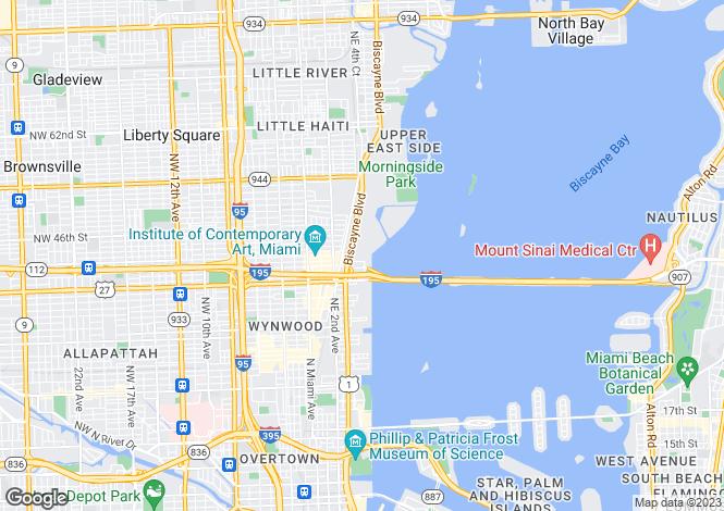 Map for USA - Florida, Miami-Dade County, Miami