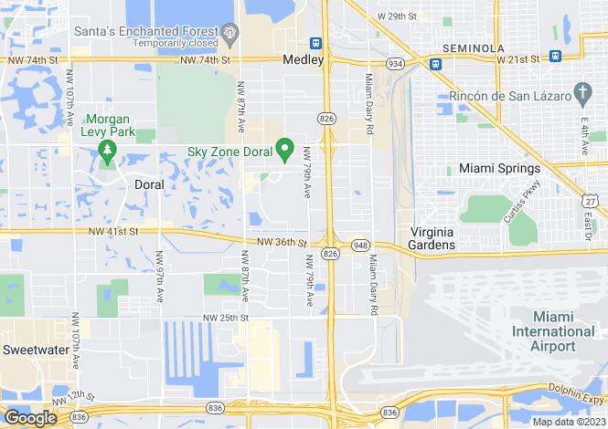 Map for USA - Florida, Miami-Dade County, Doral