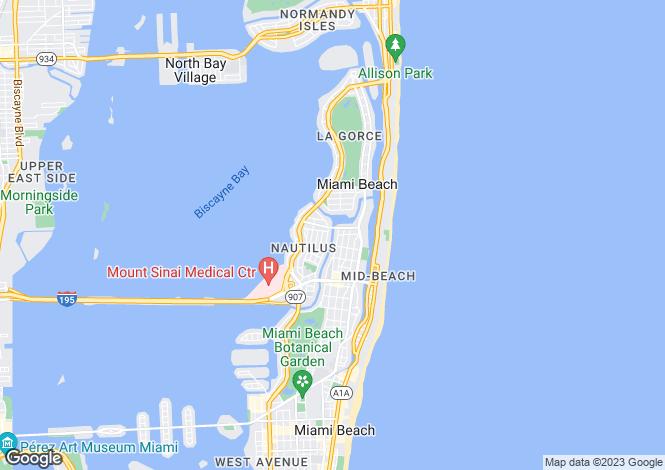 Map for Miami Beach, Miami-Dade County, Florida