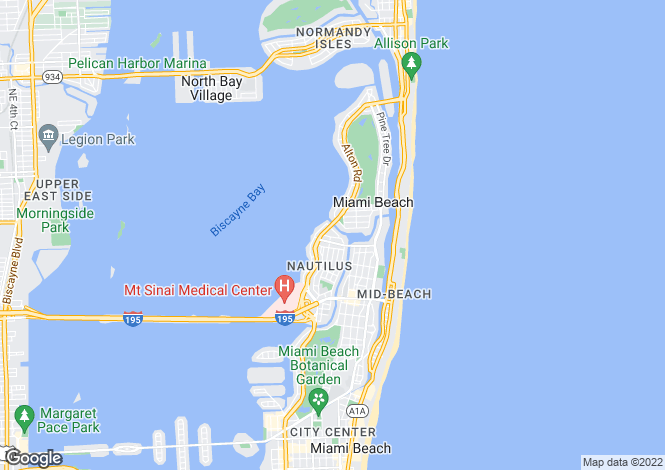 Map for USA - Florida, Miami-Dade County, Miami Beach