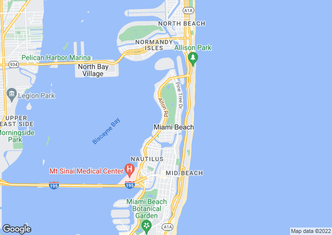 Map for 3900 Alton, Biscayne Bay, Miami