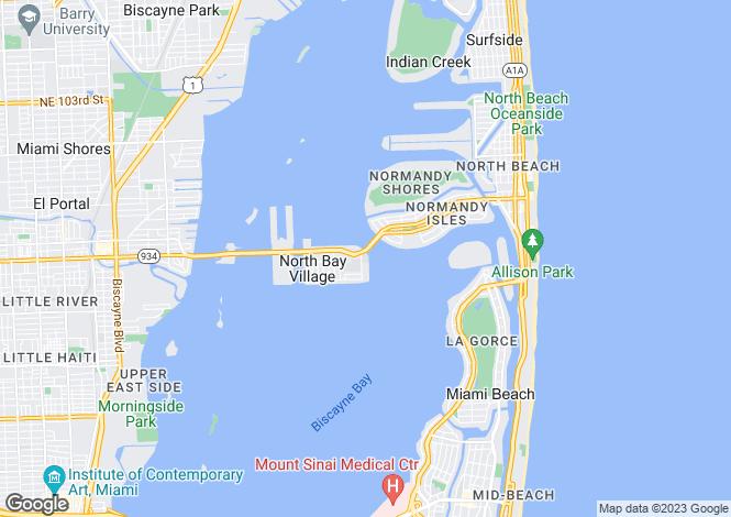 Map for USA - Florida, Miami-Dade County, North Bay Village
