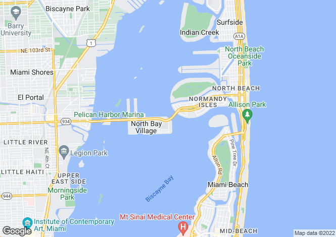 Map for USA - Florida, Miami-Dade County, North Bay Village