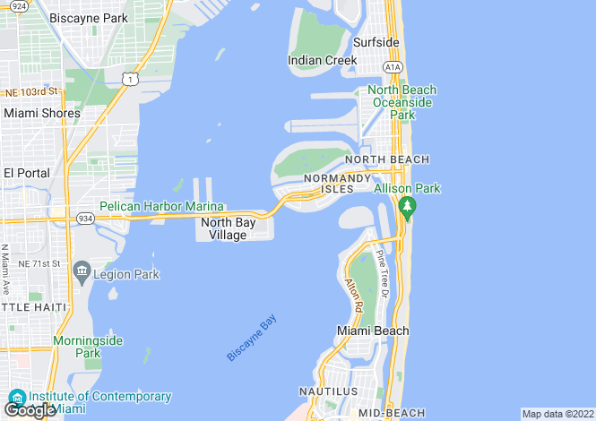 Map for USA - Florida, Miami-Dade County, Miami Beach