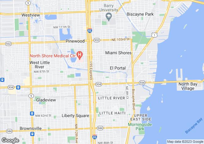 Map for USA - Florida, Miami-Dade County, El Portal