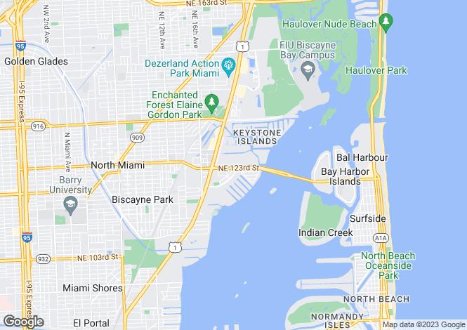 Map for USA - Florida, Miami-Dade County, North Miami