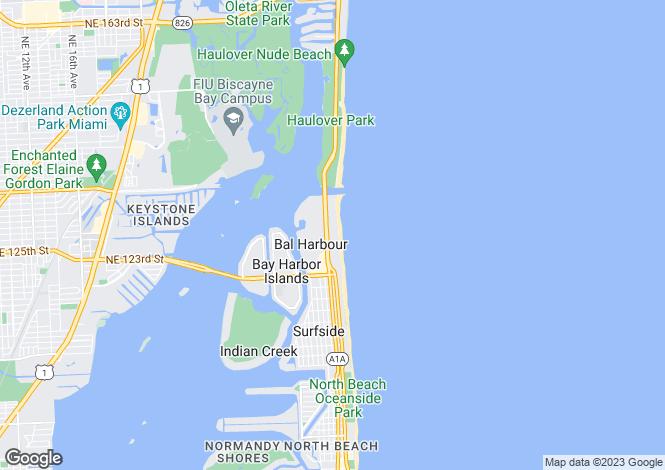 Map for USA - Florida, Miami-Dade County, Bal Harbour