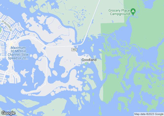 Map for USA - Florida, Collier County, Goodland