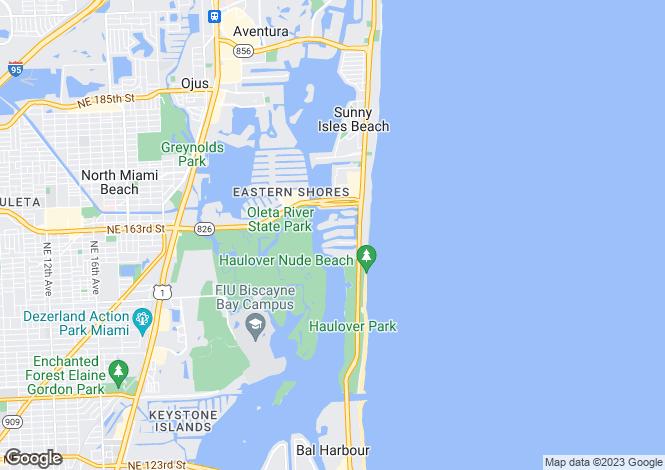 Map for Sunny Isles, Miami, USA