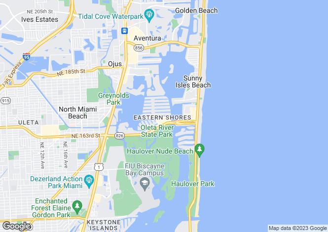 Map for North Miami Beach, Miami-Dade County, Florida