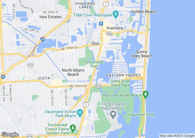 Map for USA - Florida, Miami-Dade County, North Miami Beach