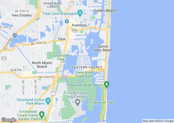 Map for Aventura, Miami, USA