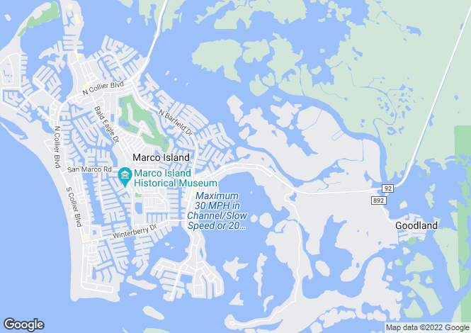 Map for USA - Florida, Collier County, Marco Island
