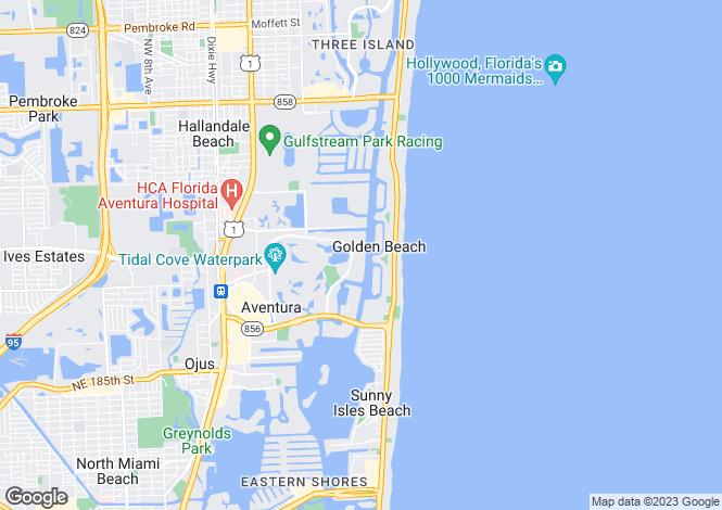 Map for USA - Florida, Miami-Dade County, Aventura