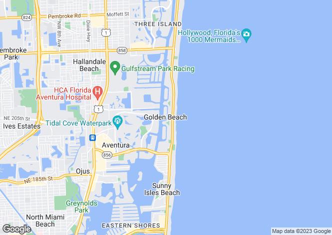 Map for Golden Beach, Miami-Dade County, Florida