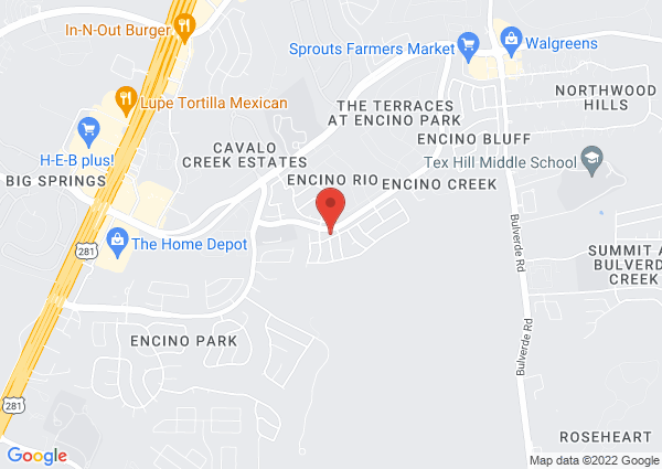Map of 2525 Rancho Mirage, San Antonio, TX 78259, USA