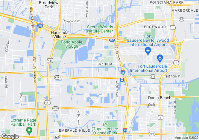 Map for Fort Lauderdale, Florida