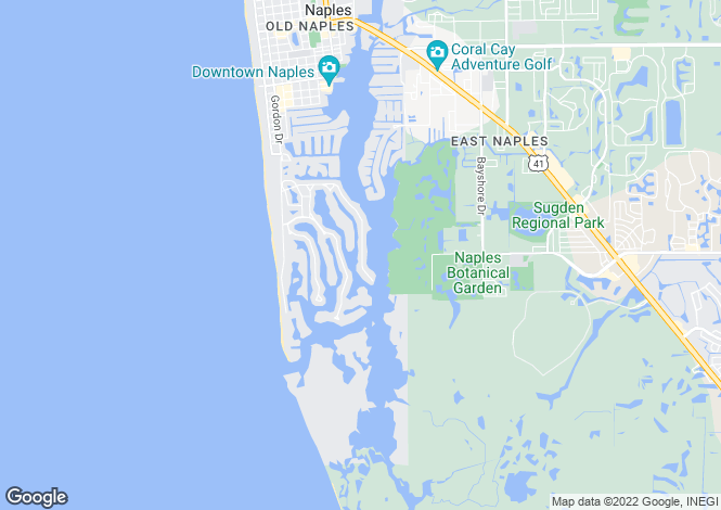 Map for USA - Florida, Collier County, Naples