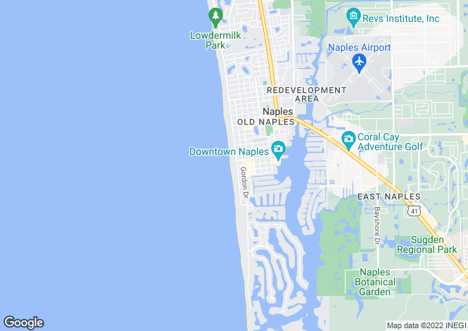 Map for USA - Florida, Collier County, Naples