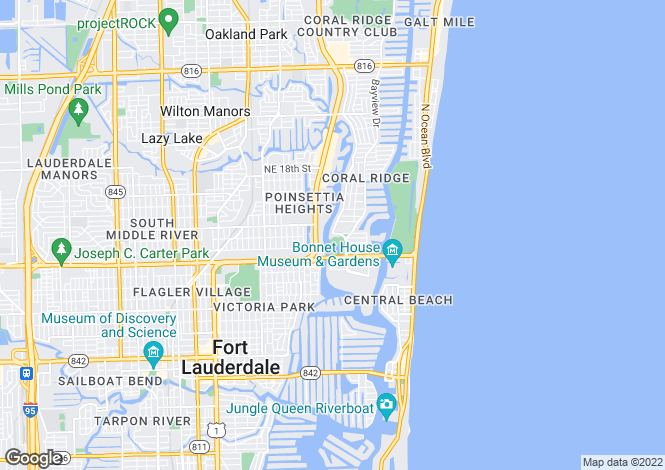Map for Fort Lauderdale, Broward County, Florida