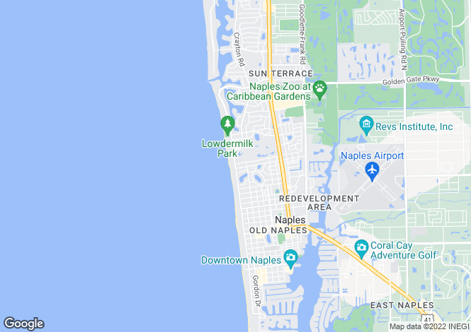 Map for Naples, Florida, United States