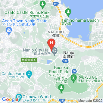 ユインチホテル南城の地図