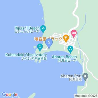 阿波連ビーチの穴場の地図
