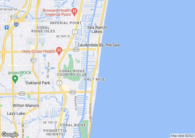 Map for USA - Florida, Broward County, Fort Lauderdale