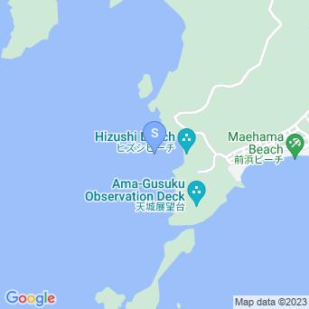 ヒズシビーチの海の中の地図