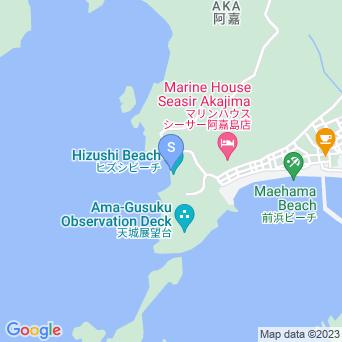 ヒズシビーチの地図