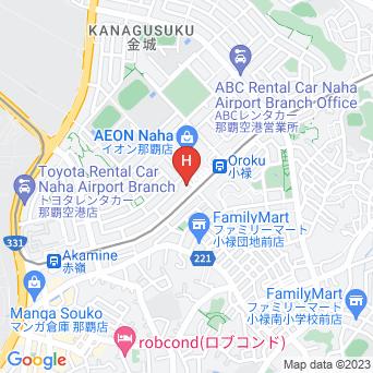 チャビラホテル那覇の地図