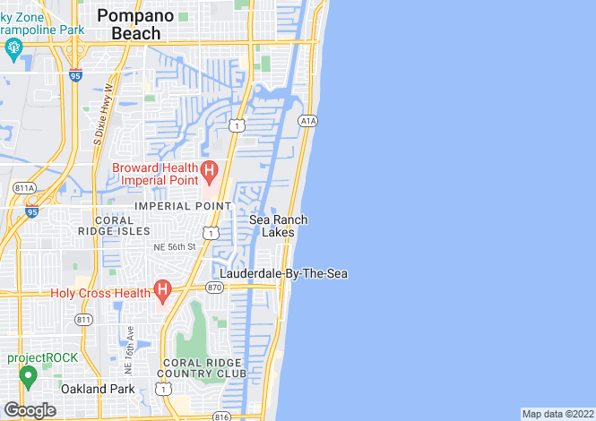 Map for USA - Florida, Broward County, Lauderdale-by-the-Sea