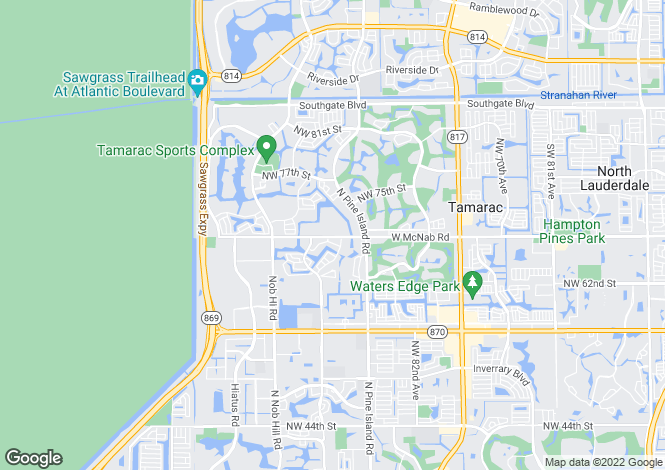 Map for USA - Florida, Broward County, Tamarac