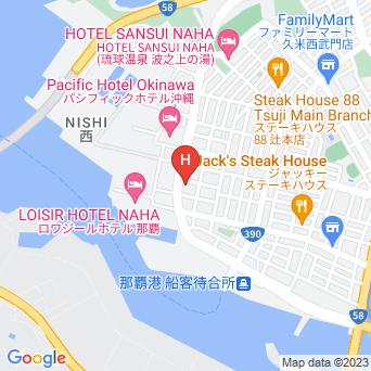 ルートイングランティア那覇の地図