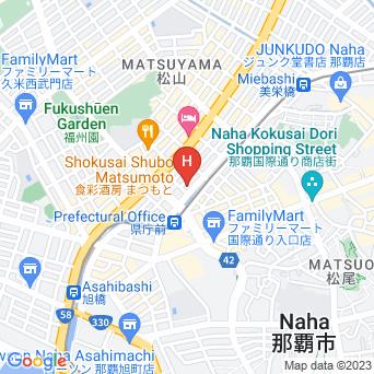ホテルサンパレス球陽館の地図