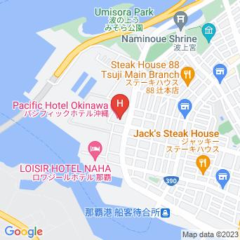 パシフィックホテル沖縄の地図