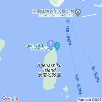 安慶名敷北のビーチの地図
