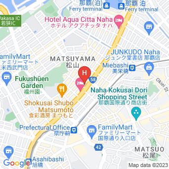 アパホテル那覇の地図