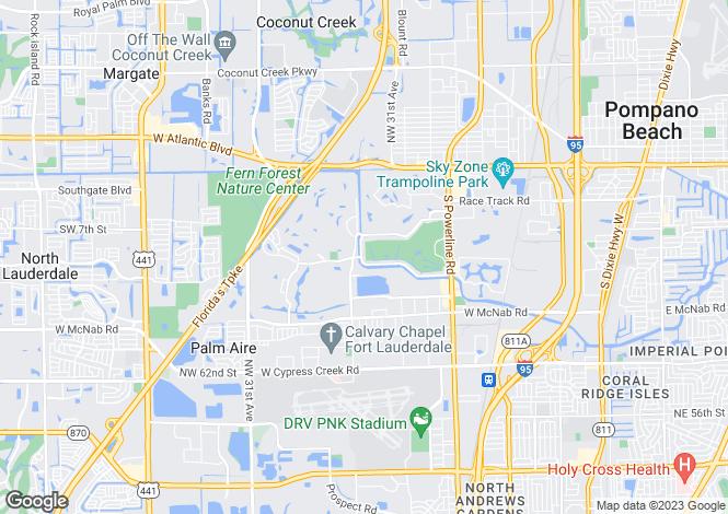 Map for USA - Florida, Broward County, Pompano Beach