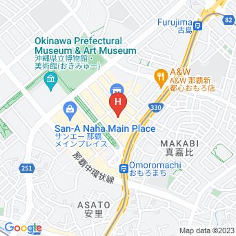 スーパーホテル那覇・新都心の地図