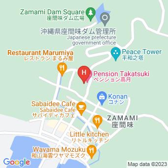 ペンションtakatsukiの地図