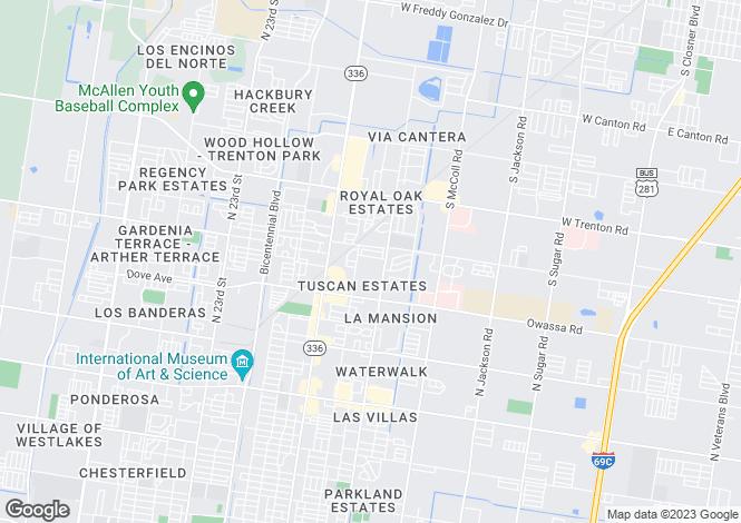 Map for USA - Texas, Hidalgo County, McAllen