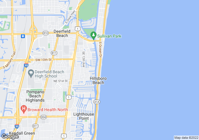 Map for Hillsboro Beach, Broward County, Florida