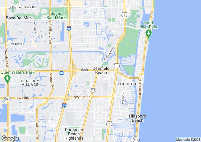 Map for Deerfield Beach, Broward County, Florida